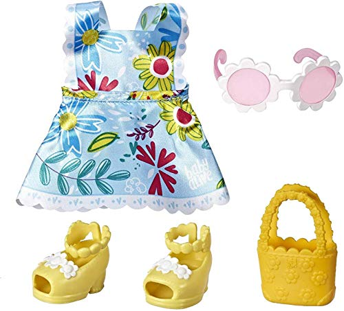 Baby Alive Littles Little Styles, Fun in The Sun Outfit for Littles Dolls, Brown