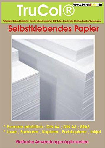 50 Blatt A4 selbstklebendes weißes Papier ;für jeden Tintenstrahldrucker bestens geeignet !