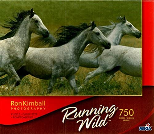 Ron Kimball Photography Running Wild 4 Horse 750 Piece Puzzle by Mega Brands