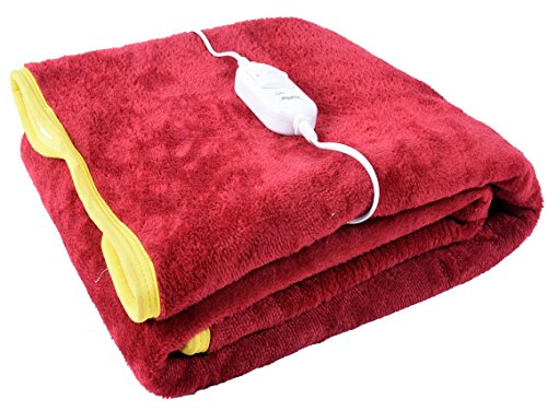 Warmland Polyester Single Electric Bed Warmer, Red