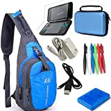 YB-OSANA 7 in 1 Backpack Crossbody Bag + New 2DS XL Wall Charger+ New 2DS XL Protective Bag+ Game Card Holder...