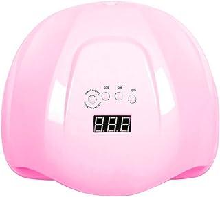 Wsaman 54W Lámpara LED Uñas Herramientas Manicura con 3 Temporizador Pantalla LCD para Manicura/Pedicura Esmalte Uñas,Rosado