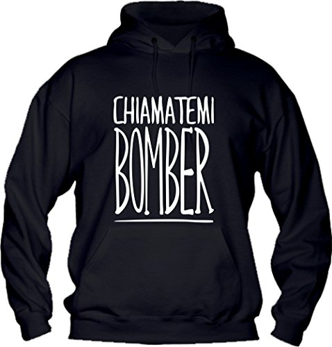 Social Crazy heren sweatshirt met capuchon basic topkwaliteit top pasvorm - grappig bomberjack humor Made in Italy