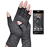 Arthritis Gloves,New Material, Compression for Arthritis Pain Relief Rheumatoid Osteoarthritis and Carpal Tunnel, Premium Compression & Fingerless Gloves for Typing and Daily Work(M size, 1pair)
