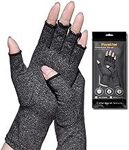 Arthritis Gloves,New Material, Compression for Arthritis Pain Relief Rheumatoid Osteoarthritis and Carpal Tunnel, Premium Compression & Fingerless Gloves (Dark Gray, M)