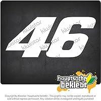 46ステッカー 46 sticker 20cm x 9cm 15色 - ネオン+クロム! ステッカービニールオートバイ