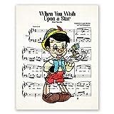 AtoZStudio Pinocchio Poster // Kinderzimmer Wandkunst Dekor