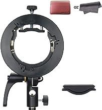 Godox S2 Speedlite S-Type Bracket, Speedlight Bowens Mount Compatible with Godox Camera Flash, V1 AD200Pro AD400Pro AD200 V860II TT685 TT600 TT350, Precise Tilt Control, Umbrella Mount Slot