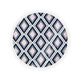 y azul marino diamante Ikat vacío cojín cojín caja de colchón cosmético pacto maquillaje caso BB CC líquido crema base contenedor