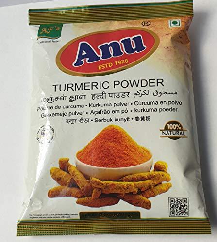Kurkuma, Kurkuma pulver 100%, Curcuma Gewürz, Gelbwurz aus Indien, Turmeric Powder, Fein gemahlen 200g (2x100g)