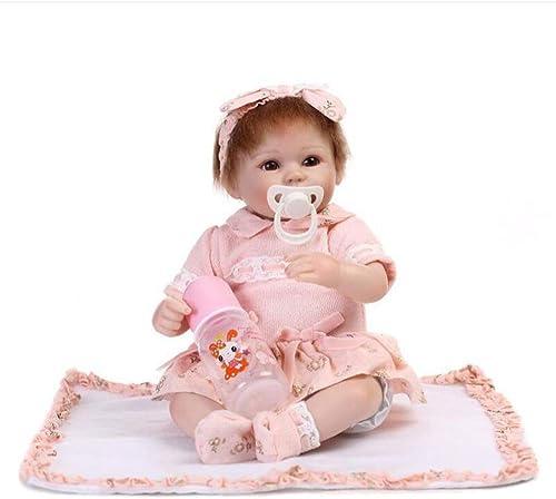 LLX Reborn Baby Doll Silikon Vinyl Puppe Realistische Babys Puppen 16 Zoll 42 cm Lebensechte Spielzeug Kinder Geburtstag Geschenk,B