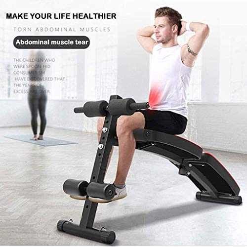 GY613 Adjustable Weight Bench,Foldable Decline Sit up Bench Crunch Board Fitness Home Gym Exercise Sport Support for Bench Press Portable Supine Board
