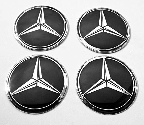 4 x 56 mm Rad mitte kappen aufkleber embleme passend für MercedesBenz radkappen nabenkappen