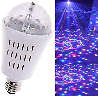 SKIDOOMARINK LED Auto Rotating Lights Bulb RGB E27 5 Watt AC85V-260V Cool Stuff light bulbs Magic Pattern Colourful Stage Light Pokey dots disco club party night day dj >8000hrs