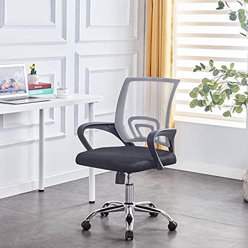 Bürostuhl Ergonomischer Drehstuhl Mit Armlehnen Chefsessel Netzbezug Schreibtischstuhl Höhenverstellung Office Stuhl Computerstuhl Rotazione Di 360 °