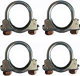 Pinces pour tuyaux d'échappement pour usages lourds, pinces en U pour boulons d'échappement ou pour TV Antenne catalyseur Raccord filtre DPF (U CLAMP 40 mm)