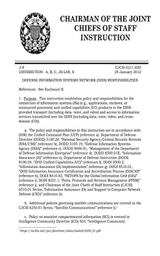 Defense Information Systems Network (DISN) Responsibilities 2012 (English Edition)