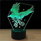 JYHW Creative 3D Led Bébé Sommeil Usb Chambre Éclairage De Chevet Parrot Oiseau...
