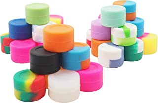 YHSWE 100Pcs 3ml Silicone Mini Container Oil Kitchen Wax Round Concentrate Box Multi Use Storage Jar for lip Balm and Creams Assorted Random Color