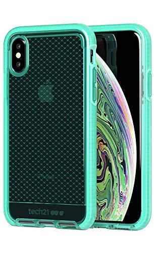 Tech21 Evo Check Schutzhülle für Apple iPhone X/iPhone Xs - Neon-Türkis