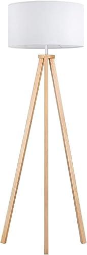 Tomons LED Lampadaire Dimmable Stepless Trépied en Bois à de Style Scandinave, Moderne pour Salon, Chambre à Coucher,...