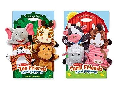 Melissa & Doug Hand Puppet Bundle - Farm & Zoo Friends by Melissa and Doug