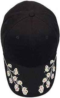 haoricu Baseball Hat, 2017 New Women Embroidered Baseball Cap Summer Snapback Caps Hip Hop Hats (Black)