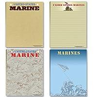 海兵隊Notepads–4Assorted USMCノートパッド–Military–Armed Forces–Semper Fi