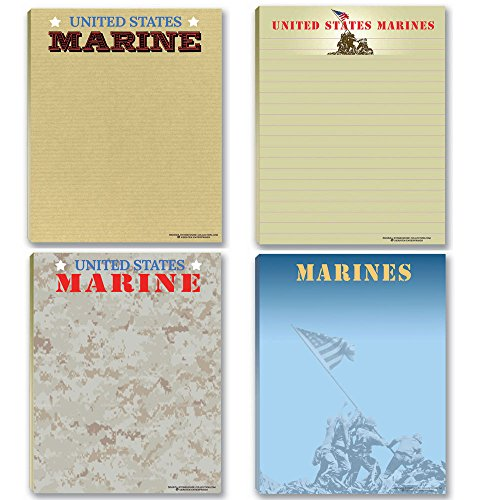 Marine Corps Notepads - 4 Assorted USMC Note Pads - Military - Armed Forces - Semper Fi