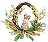 Boston International WDC20046 Decorative Spring Wreath, 18-Inches, Baxter Bunny & Carrots