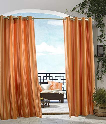 extérieur Décor Tonnelle à Rayures Intérieur Extérieur Panneaux de fenêtres, 50 par 96, Orange