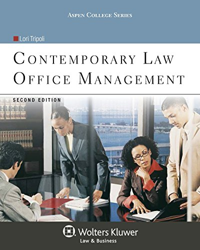 Compare Textbook Prices for Contemporary Law Office Management, Second Edition Aspen College 2 Edition ISBN 9781454838807 by Lori Tripoli