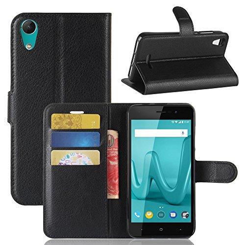 95Street Handyhülle für Wiko Lenny 4 Schutzhülle Book Case für Wiko Lenny 4, Hülle Klapphülle Tasche im Retro Wallet Design mit Praktischer Aufstellfunktion