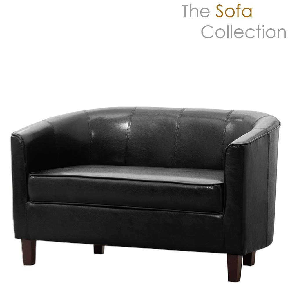 Sofa Collection Chesterfield Style Beauvais Tub Chair with Studded Back in Brown Bonded Leather 70x76x73 cm
