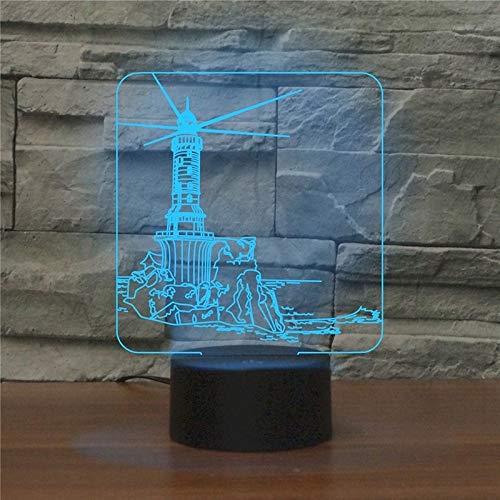 LWLHOUSE Durable Fábrico Forma 3D LED LED LED Lámpara de Mesa, versión USB y batería
