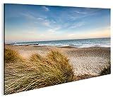 Bild auf Leinwand Strand V2 Nordseestrand Nordsee Ostsee Dünen 1p Kunstdruck XXL Bild Poster Leinwandbilder Wandbilder