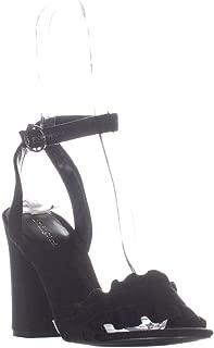 Womens Sandie 2 Open Toe Ankle Wrap Classic, Black Fabric, Size 8.0