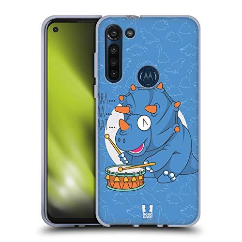 Head Case Designs Tricer Taps Dino Musikeros Soft Gel Huelle kompatibel mit Motorola Moto G8 Power