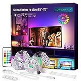 LED TV Hintergrundbeleuchtung 4m Kit Für 65-75 Zoll TV,Pangton Villa RGB 5050 led Strip mit...