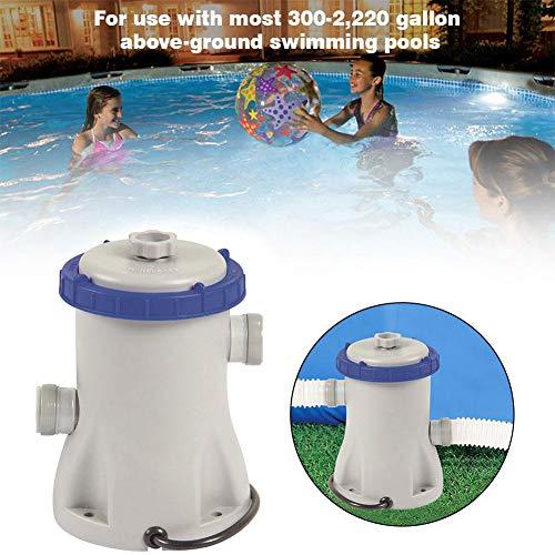 Pompe de filtration pour piscine 300–2.220 Gallons pour piscines hors-sol Outil de nettoyage de jacuzzi Pompe de vidange pour cave de bassin inondée Débit de la pompe : 1249 gallons/heure