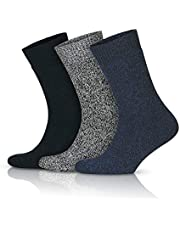 GoWith 3'lü Norveç Tipi Yünlü Tam Havlulu Güçlendirilmiş Ön Yıkamalı Kışlık Erkek Termal Çorap Seti 6042