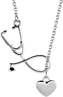 Kette Krankenschwester Herz Stethoskop Cardiogram Anhänger Halskette ArztKette