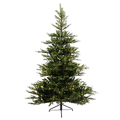 Everlands Grandis Fir Pre-Lit Christmas Tree with Metal Stand - 6ft, 7ft & 8ft (6ft)