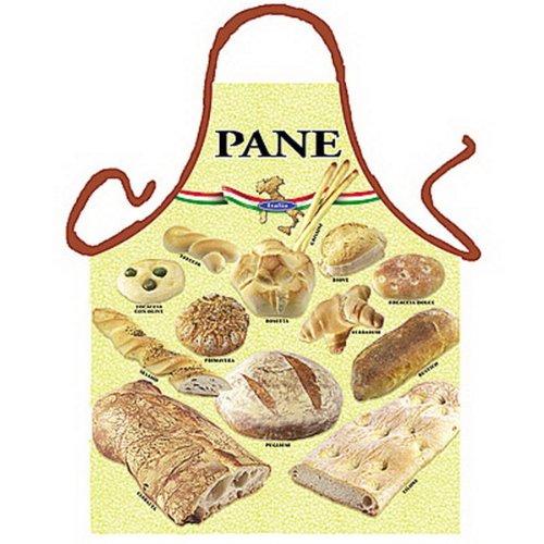 sabuy Grillschürze - Kochschürze - Italienisches Brot - Lustige Motiv Schürze als Geschenk für Grill Fans mit Humor
