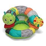 Infantino Coussin d'activités - Cale-bébé en forme de chenille, transformable en siège, pour nouveau né et bébé, idéal pour renforcer les muscles du cou et de la tête