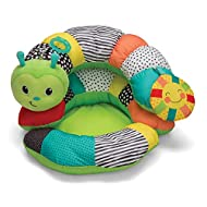 Design: Supportive C shaped pillow with stackable pillows, detachable teether, tummy time pillow, soft seat positioning prop and toucan to keep baby engaged while developing head and neck muscles Includes: Detachable BPA free teether, plush cloth sun...
