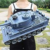 Super Off-Road Fernbedienung Tank Chariot Metall Modell Kampf Einstammbare Wiederaufladbare Kinderspielzeug Fernbedienung Fahrzeug RC Tank mit USB-Ladegerät Kabel Fernbedienung Panzer Tank
