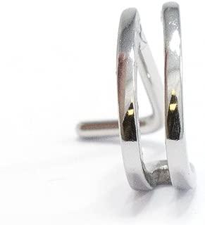 BodyJewelryOnline Double Faux Hoop L-Shape Nose Ring, Nose Stud
