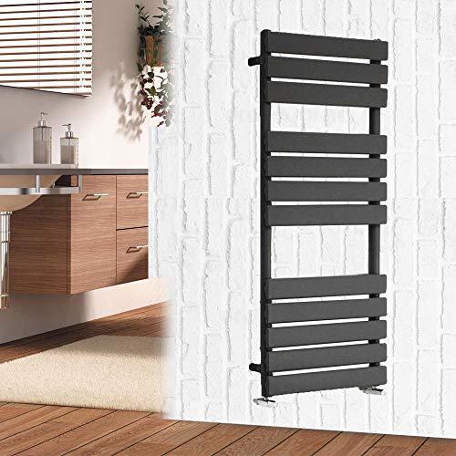 Xinng Metaal Moderne 1200x450mm Kolom Verwarmde Radiator Handdoek Rail Vlakke Panel Ladder Radiator Wandmontage Verticale Spoorverwarming voor Badkamers Keuken BTU 1963-20 Jaar Garantie