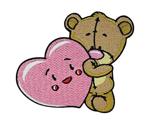 Finally Home Süßer Teddybär mit Herz in den Armen Patch zum Aufbügeln | Teddy Bär Patches, Bügelflicken, Flicken, Aufnäher für Babys und kleine Kinder für Jungen und Mädchen